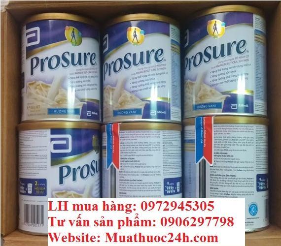 Bán sữa Prosure Abbott 380g cho bệnh nhân ung thư giá 420000  tại Hà Nội