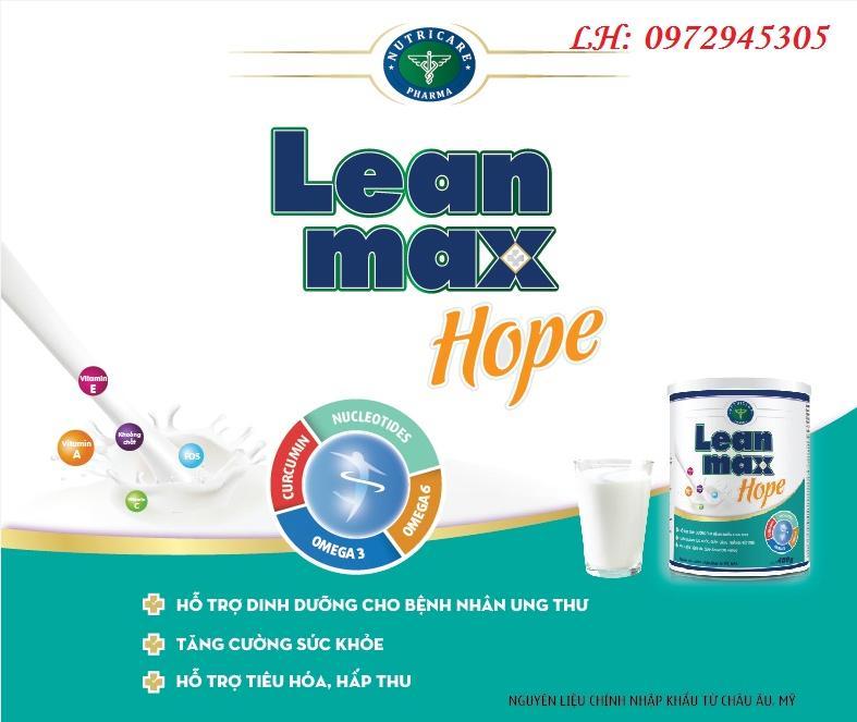 Sữa Lean Max hope cho bệnh nhân ung thư mua ở đâu, giá bao nhiêu?