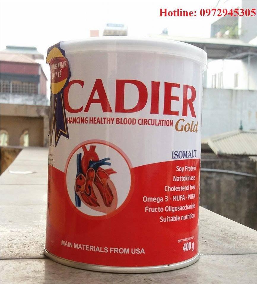 Phân phối sữa tim mạch và tiểu đường  Cadier gold
