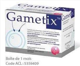 Sản phẩm hỗ trợ Vô sinh, hiếm muộn nam Gametix mua ở đâu?