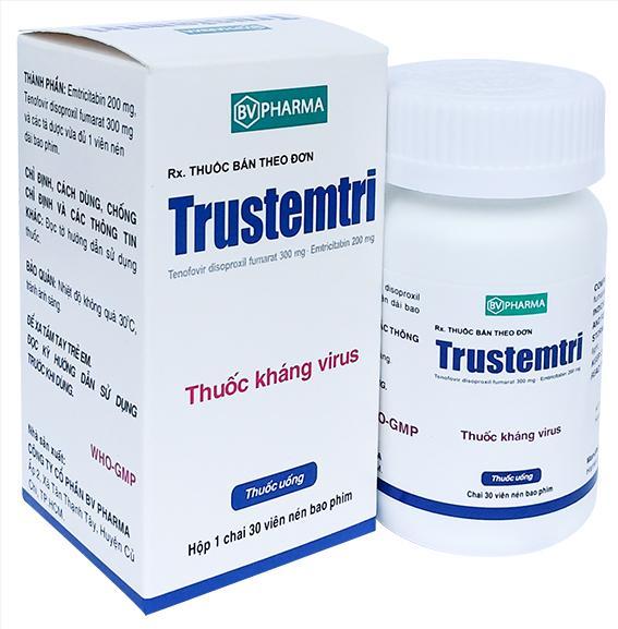 Thuốc Trustemtri hoạt chất Emtricitabine / tenofovir  mua ở đâu giá bao nhiêu