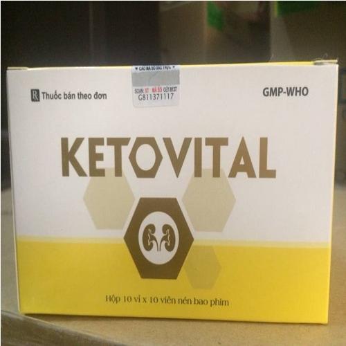 Thuốc đạm thận Ketovital mua ở đâu giá bao nhiêu
