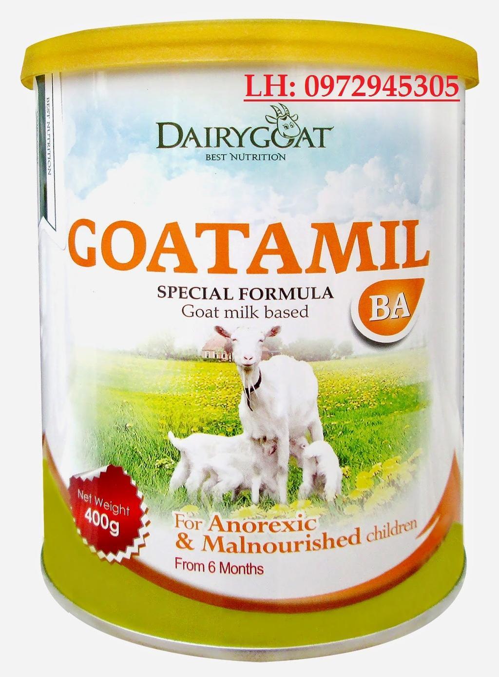 Sữa dê Goatamil BA mua ở đâu, giá bao nhiêu?