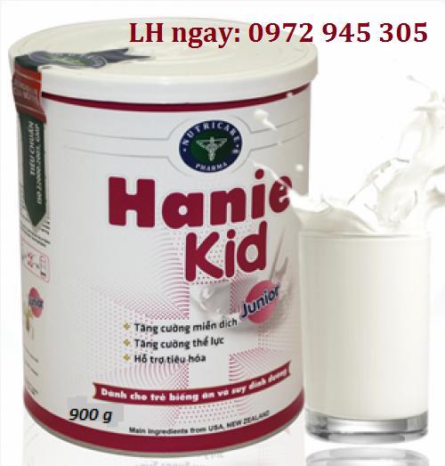 Sữa Hanie Kid mua ở đâu, giá bao nhiêu?