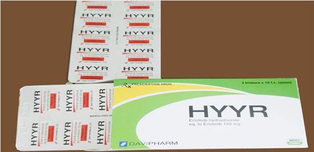 Thuốc Hyyr (Erlotinib 150mg) mua ở đâu giá bao nhiêu