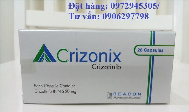Thuốc Crizonix 250mg Crizotinib giá bao nhiêu mua ở đâu?