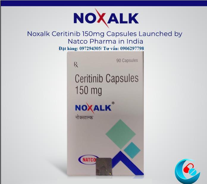 Thuốc Noxalk Ceritinib 150mg Natco mua ở đâu giá bao nhiêu