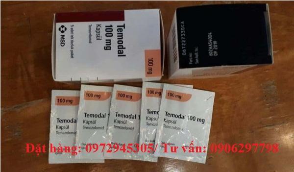 Thuốc Temodal Temozolomide 100mg giá bao nhiêu mua ở đâu điều trị bệnh gì?