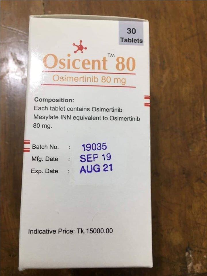 Thuốc Osicent 80mg thuốc Osimertinib mua ở đâu giá bao nhiêu?