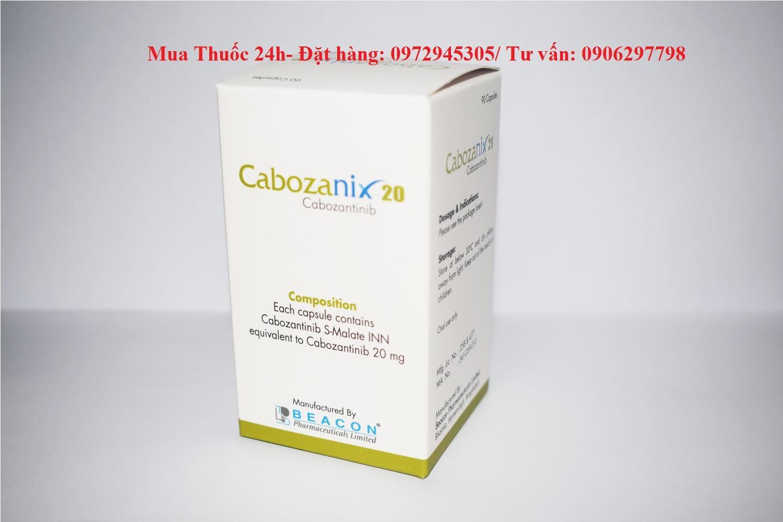 Thuốc Cabozanix Cabozantinib 20mg giá bao nhiêu mua ở đâu?