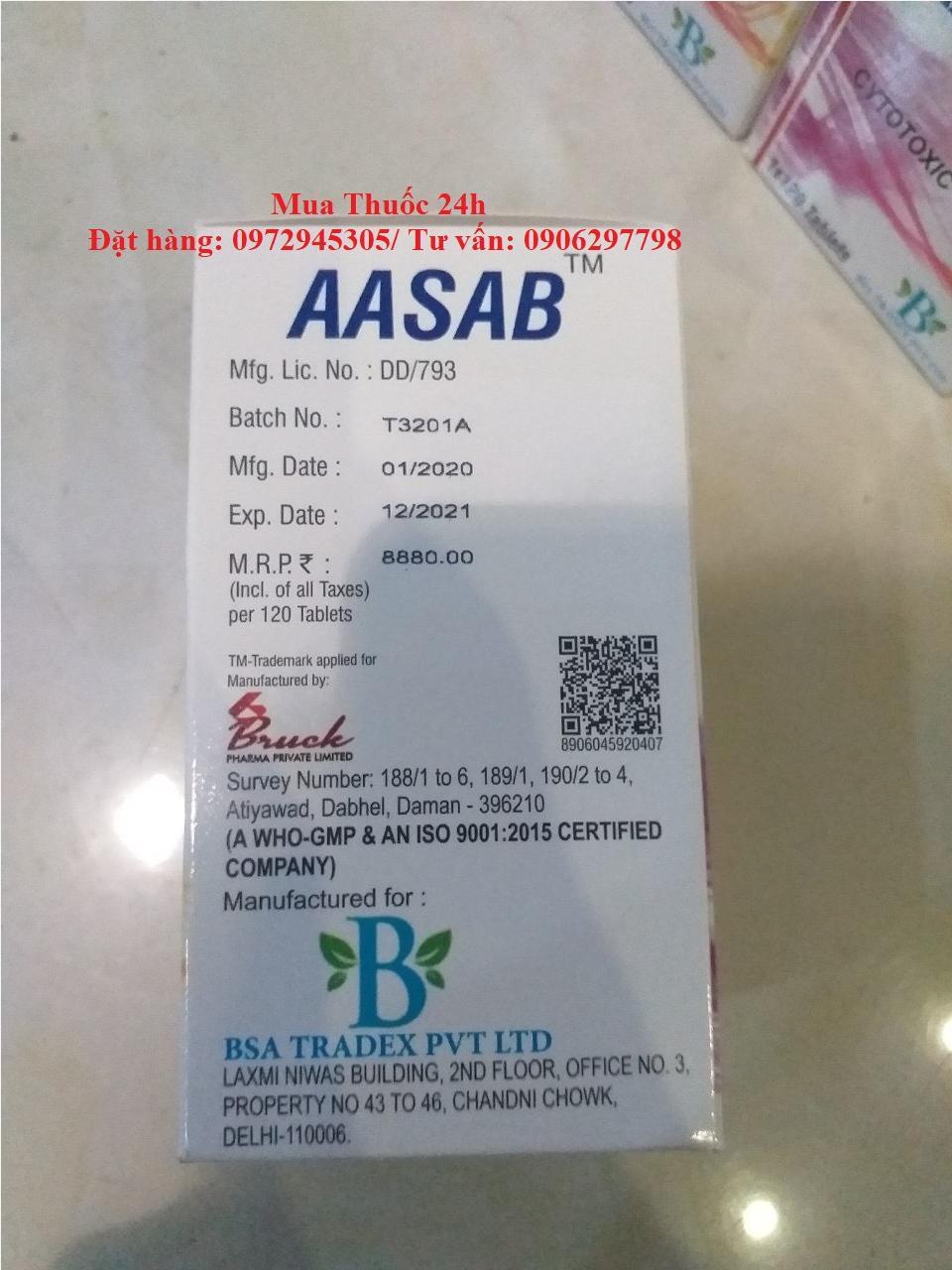 Thuốc AASAB sorafenib 200mg giá bao nhiêu mua ở đâu?