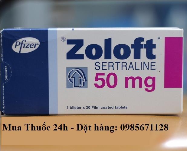 Thuốc Zoloft 50mg Sertraline giá bao nhiêu mua ở đâu