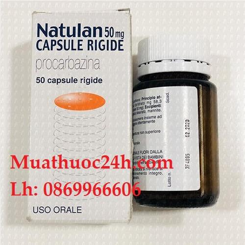 Thuốc Natulan Procarbazine giá bao nhiêu mua ở đâu?