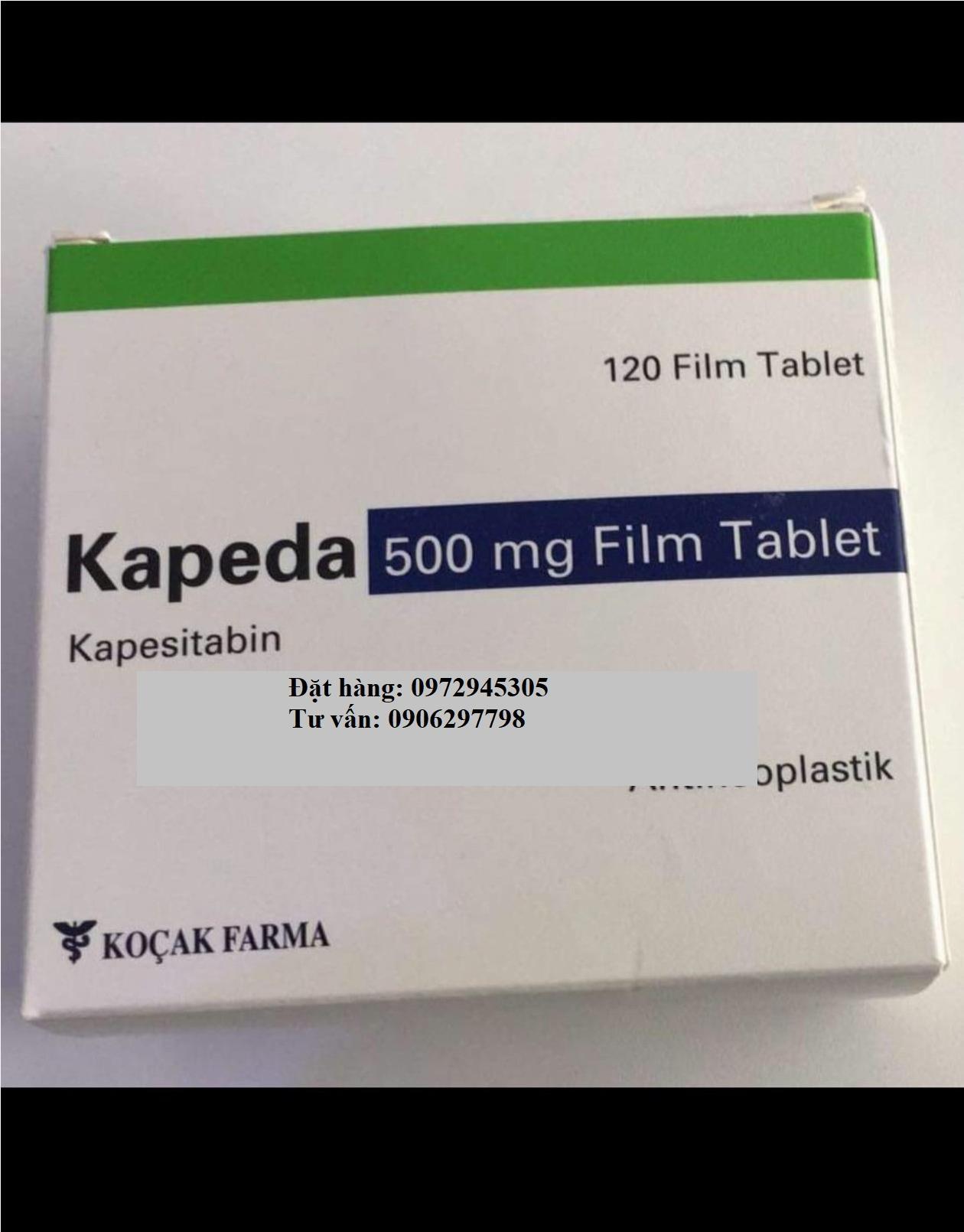 Thuốc Kapeda Kapesitabin 500mg giá bao nhiêu mua ở đâu?