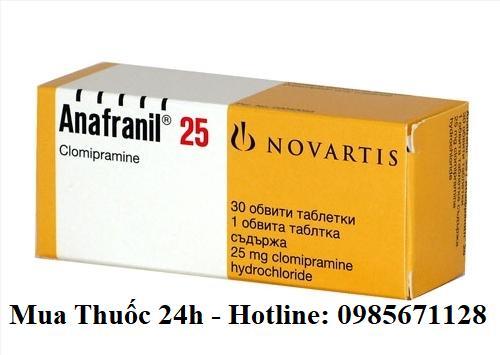 Thuốc Anafranil 25mg Clomipramine giá bao nhiêu mua ở đâu