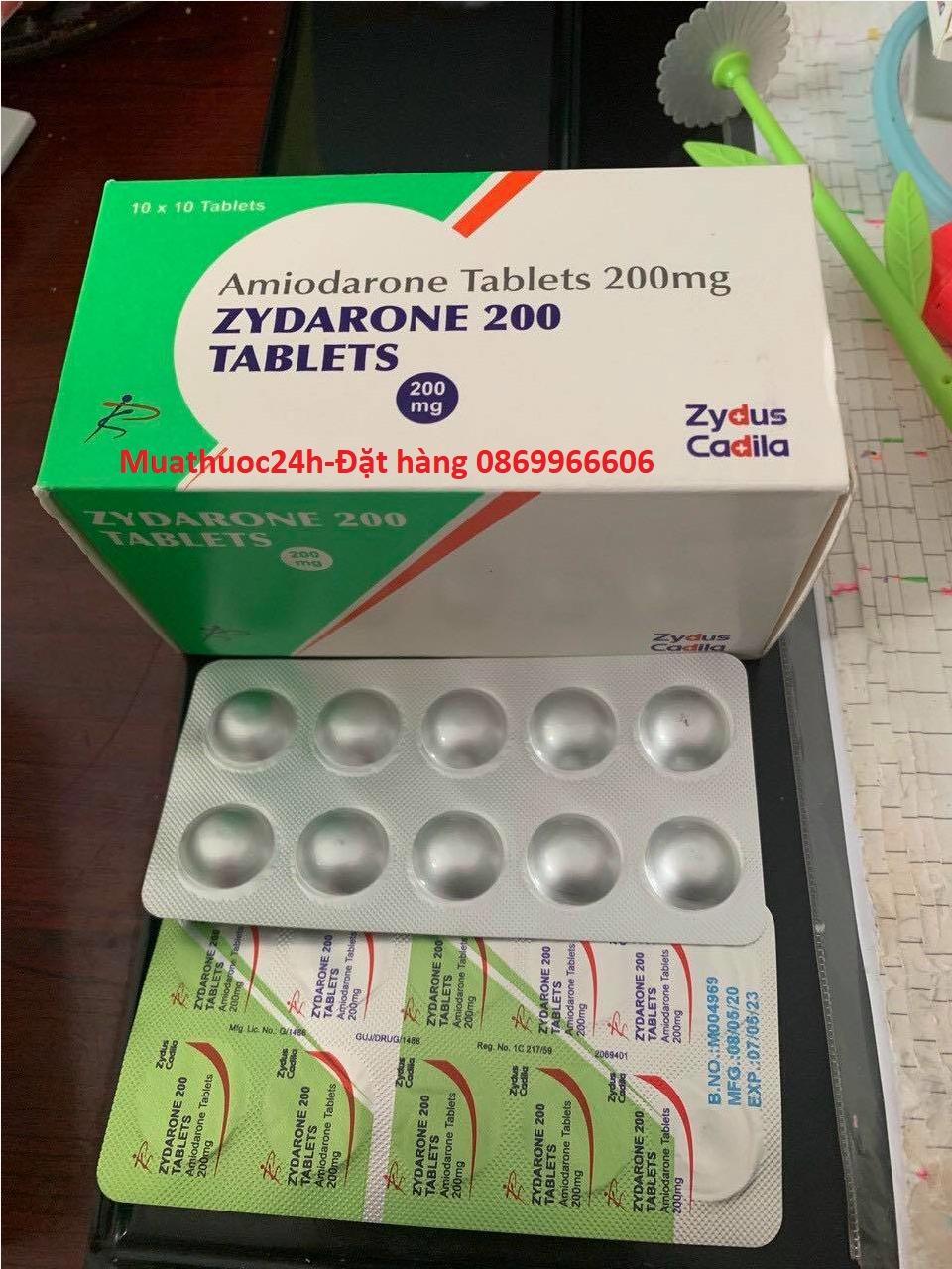 Thuốc Zydarone Amiodarone giá bao nhiêu mua ở đâu?