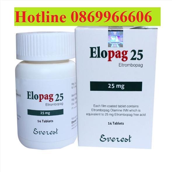 Thuốc Elopag 50 Elopag 25 giá bao nhiêu mua ở đâu?