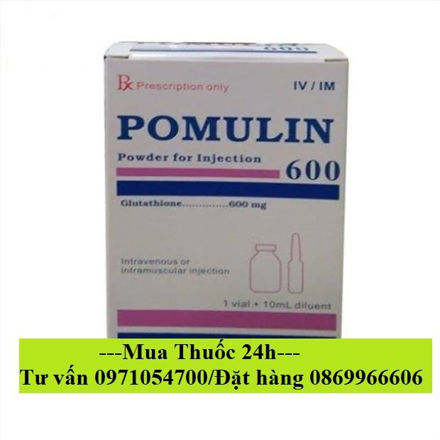 Thuốc Pomulin 600 (Glutathion) giá bao nhiêu mua ở đâu?
