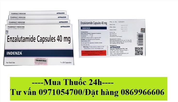 Thuốc Indenza 40mg (Enzalutamide) giá bao nhieu mua ở đâu?