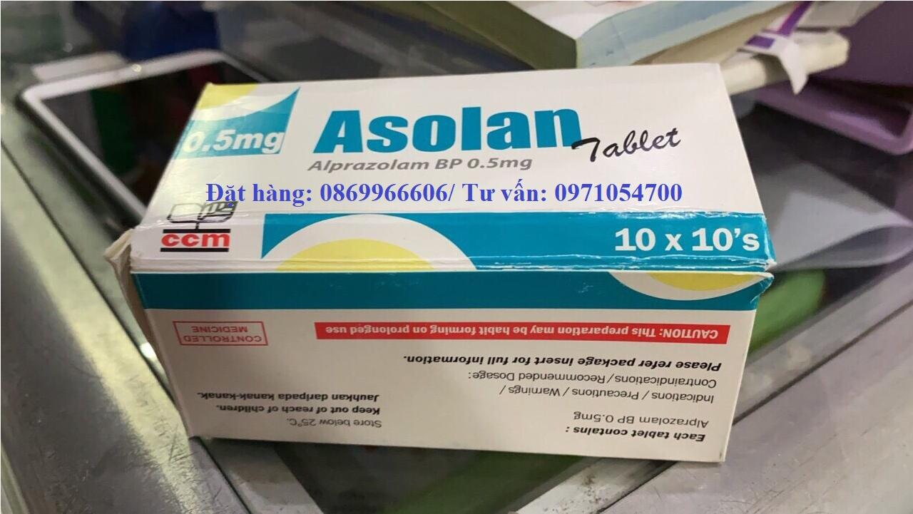 Thuốc Asolan Alprazolam 0.5mg giá bao nhiêu mua ở đâu