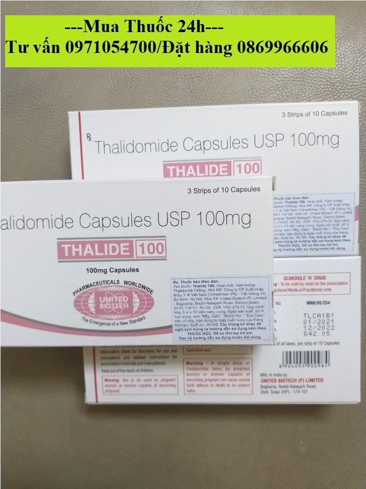 Thuốc Thalide 100 (Thalidomide 100mg) giá bao nhiêu mua ở đâu?