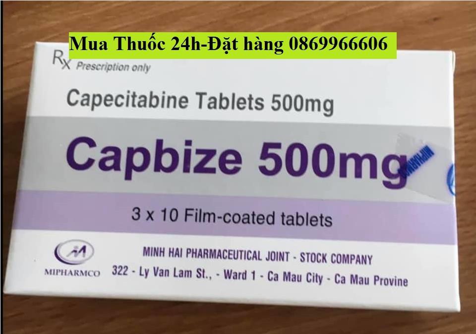 Thuốc Capbize 500mg Capecitabine giá bao nhiêu mua ở đâu?