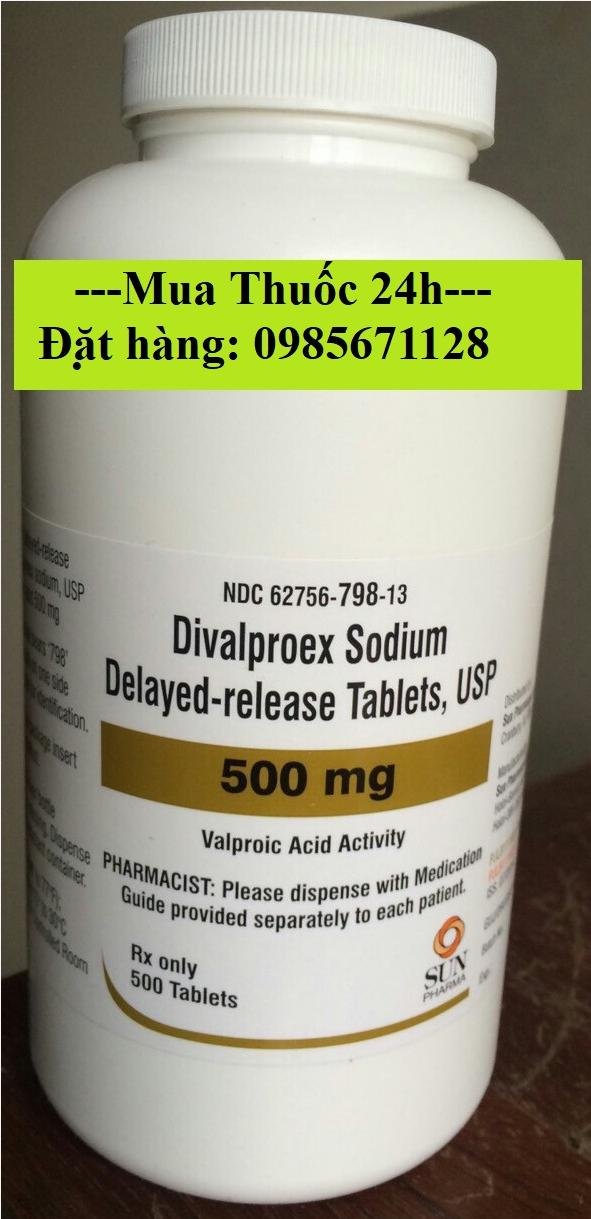 Thuốc Depakote 500mg Divalproex giá bao nhiêu mua ở đâu