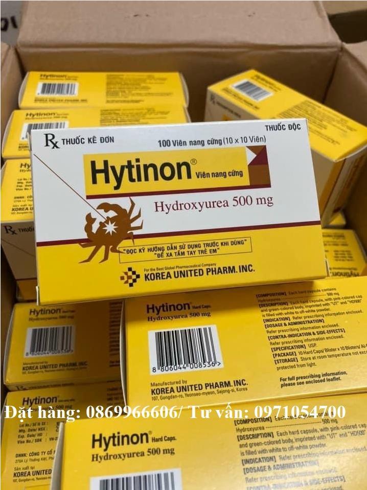 Thuốc Hytinon Hydroxyurea giá bao nhiêu mua ở đâu?
